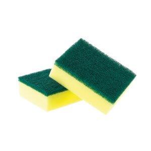 Estropajo con esponja
