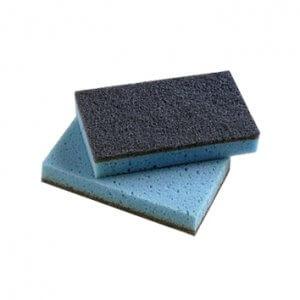 Estropajo de fibra azul
