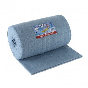 Bayeta de tejido doble azul